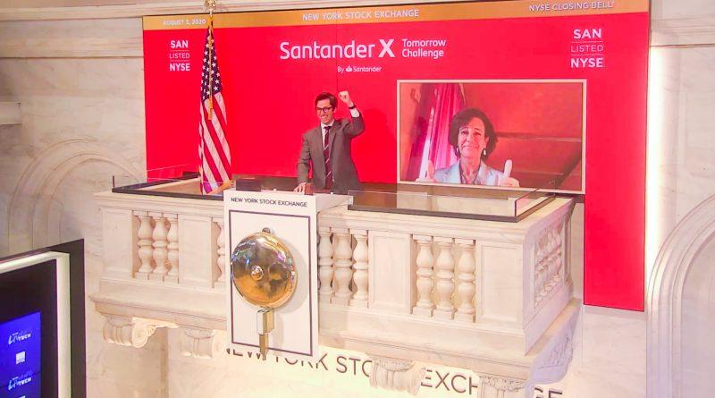 La Bolsa de Nueva York reconoce la gestión de Banco Santander frente a los efectos económicos de la pandemia